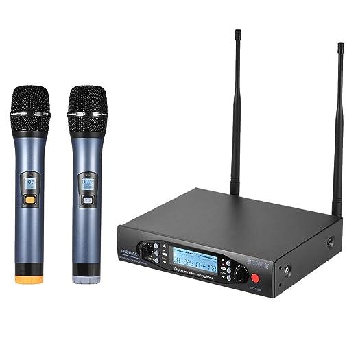 14 opinioni per ammoon Mic Sistema Microfono Ricevitore Display Canali Dual LCD Palmare Wireless