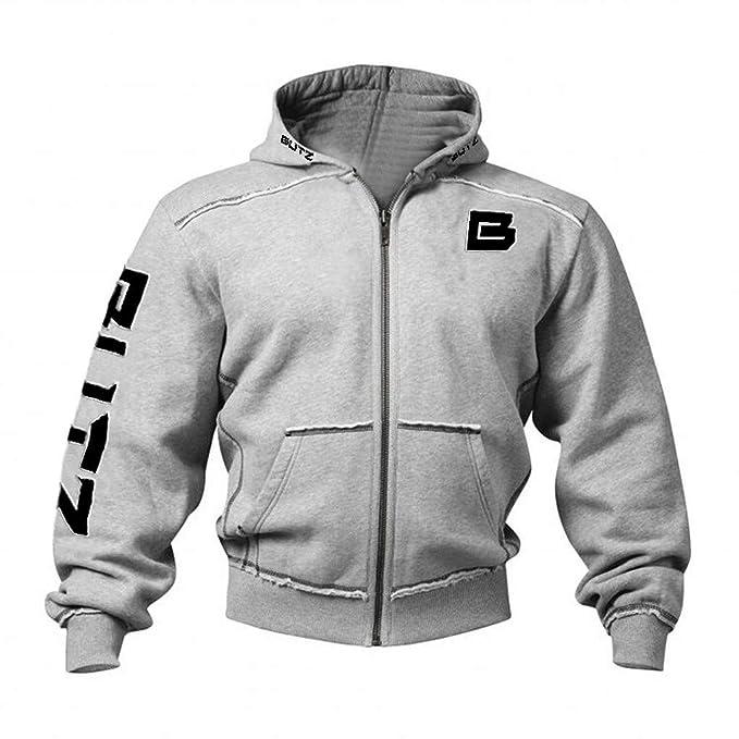 Sylar Chaquetas para Hombres Moda, Color Sólido Impresión con Capucha Manga Larga Patchwork Suelto Sudadera Casual Jersey Outwear Uniforme De Beisbol: ...