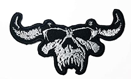 Music D Skull Heavy Metal Gothic Metal Hard Rock Blues Rock Industrial  Metal Band Logo Patch Embroidered Sew Iron On Patches Badge Bags Hat Jeans