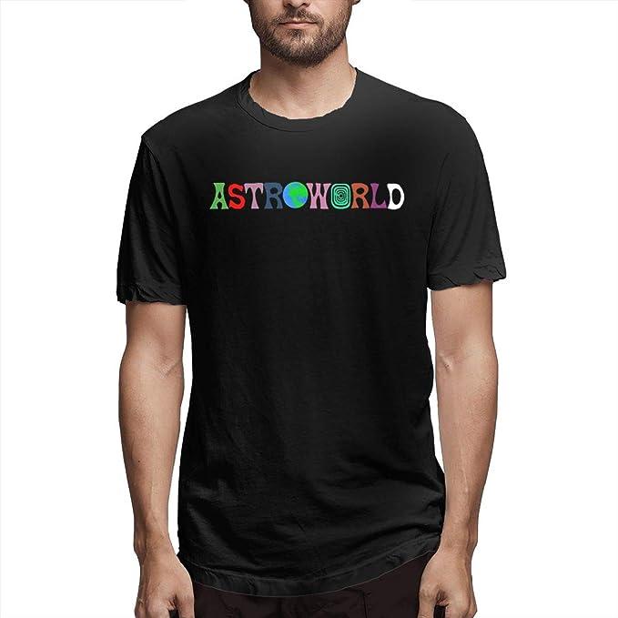 f4e4b8e7ae8f Amazon.com: Eilli Retro Travis-Scott-Astroworld Vintage T Shirt Tee ...