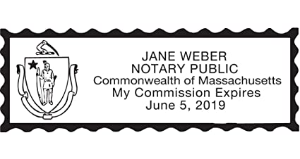 Amazon Notary Stamp For State Of Massachusetts Self Inking