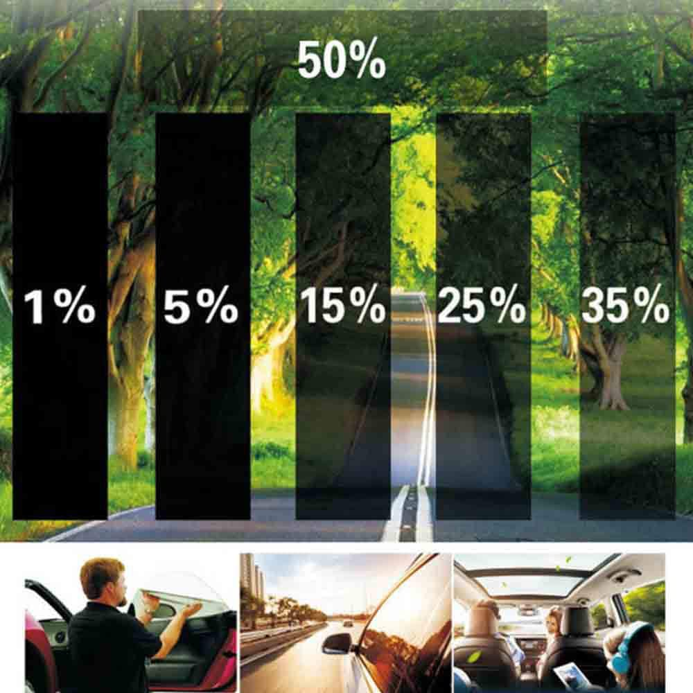 Asdomo Film teint/é pour vitres de Voiture 1/% /à 50/% Noir 75 cm 3 m