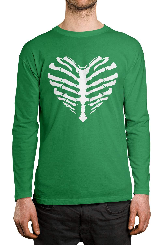 Apparel Ribcage Heart Halloween S Shirt