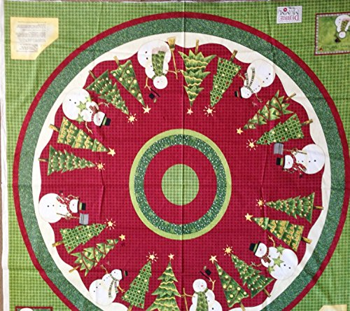 Snowman Christmas Tree Skirt Tablecloth