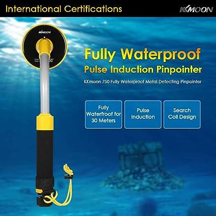 kkmoon alta sensibilidad 98 Ft resistente al agua detector de metales, Pinpointer Pulse con Holster, bajo agua metal Such dispositivo, Pi Impuls Inducción ...
