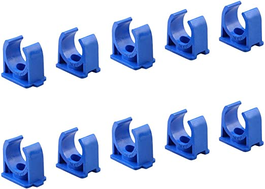 Sinmova 10PCS 40mm U Type Colliers de Tuyau Conduit Raccords Blanc