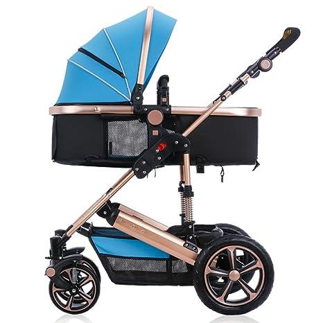 HJHY Carruajes de bebé, Paisaje alto Se puede sentar y mentir Carro infantil Invierno y