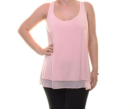 f4bb925c46aa0a Lauren by Ralph Lauren Women s Sheer-Hem Jersey Tank Top (XL