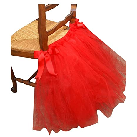 Hoter - Silla de tul tutú falda con lazo de raso para boda ...