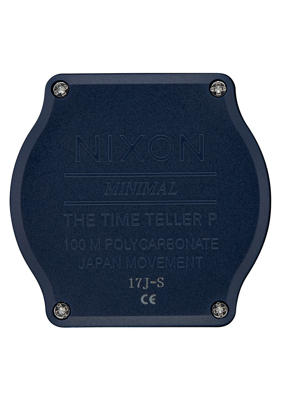 Nixon Men's Time Teller P Corp Watch, 39mm, Matte Navy/White, One Size