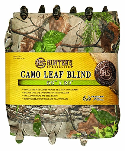 Hunter's Specialties Lightweight Material Camo Leaf Blind, 56-Inch x 12-Feet, Realtree Xtra