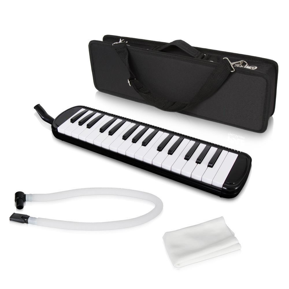 Lectronify Black Professional Harmonica/Melody-Horn/Blow-Organ/Pianica/Keyboard Harmonica Instrument - Combines a Keyboard and Harmonica by Lectronify