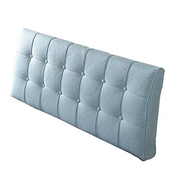 Wenzhe Kopfteil Kissen Bett Rückenkissen Rückenlehne Flachs Kissen