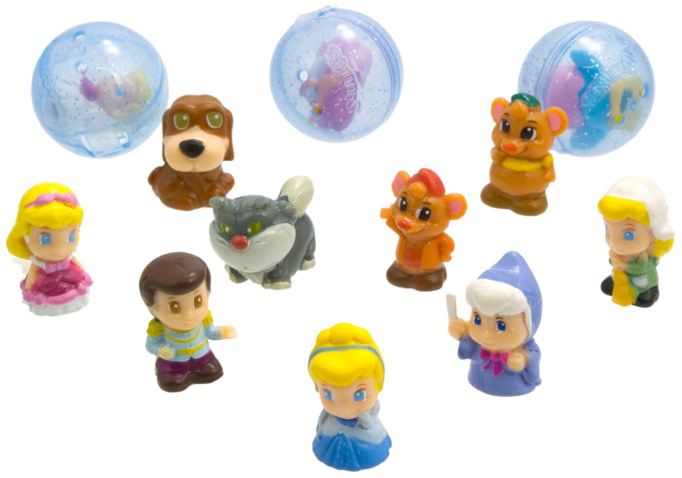Disney-Princess-Squinkies-Set-Cinderella-Bubble-Pack-Boys-Barbie-Fuzzies thumbnail 39