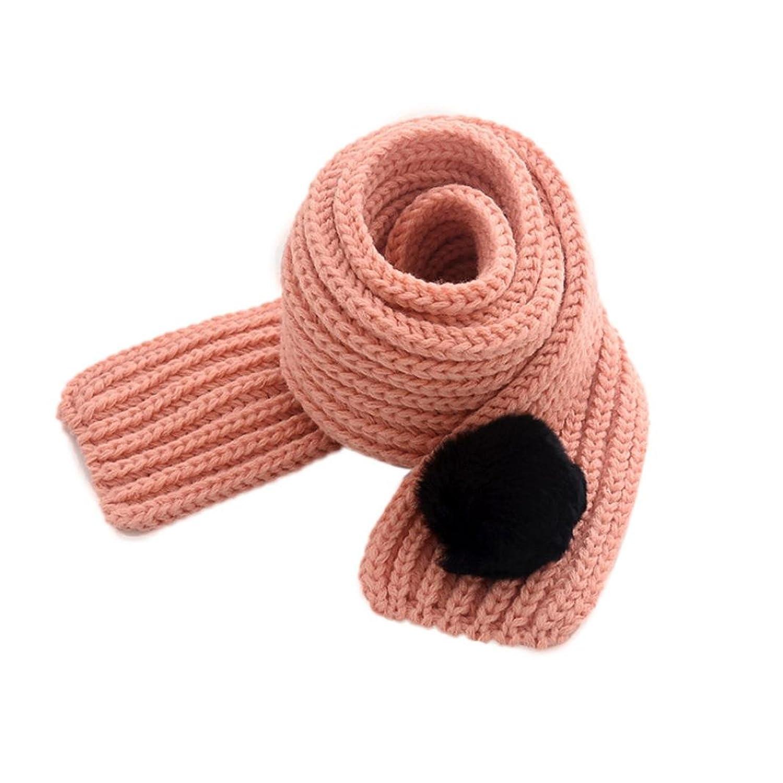 DZT1968 Boy Girl Baby Winter Scarf Neck Warm wool ball knitting wool scarves