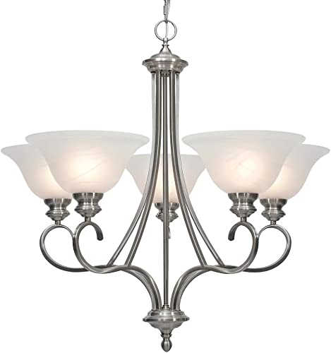 Golden Lighting 6005-5 PW Lancaster Chandelier
