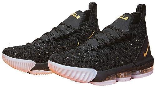 9ad3398a0ae Lebron James 16 XVI Black Golden White Zapatos de Baloncesto para Hombre   Amazon.es  Zapatos y complementos