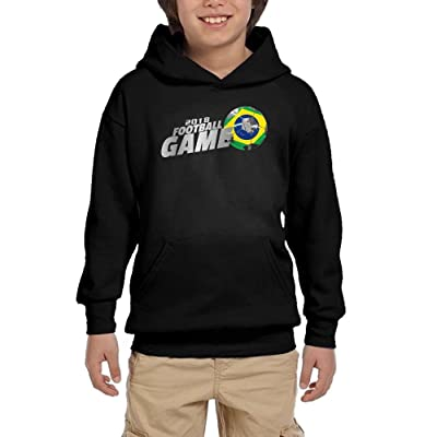 2018 Football Game Brazil Boy Girls Pullover Hoodies Casual Hooded Sweatshirts With Pocket