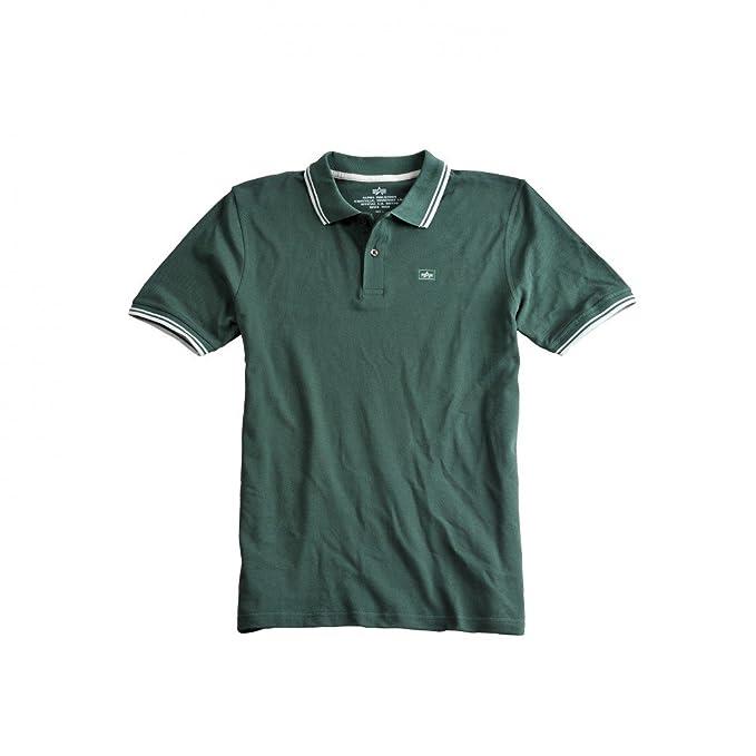 Alpha 166602 95 Schwarz/Weiß Camisa de Polo, Black/White, M para ...