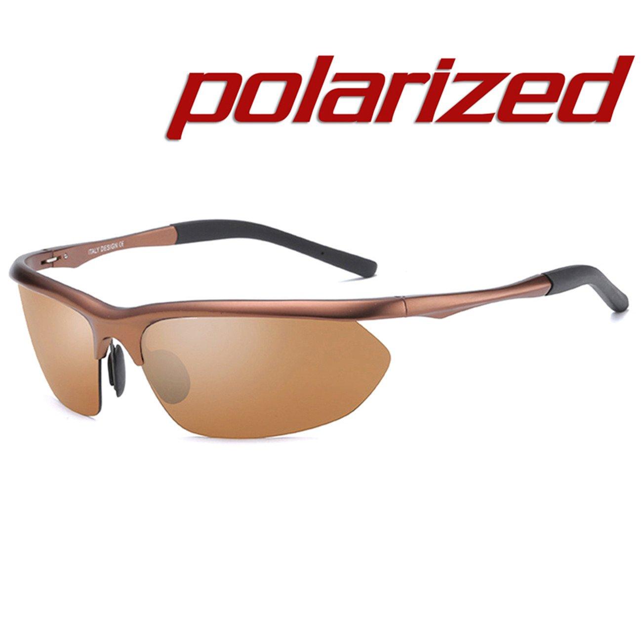 JULI Polarisiert Sport Sonnenbrillen Herren Damen Aluminium Magnesium Legierung Unzerbrechlich Rahmen 8124-004-A