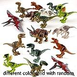 Voiks Dinosaurios de Juguete, Dinosaurios Bloques de Construcción, Juguetes Niños Coleccionable Cumpleaños Regalo Juguete,Entrega aleatoria(Sólo uno)