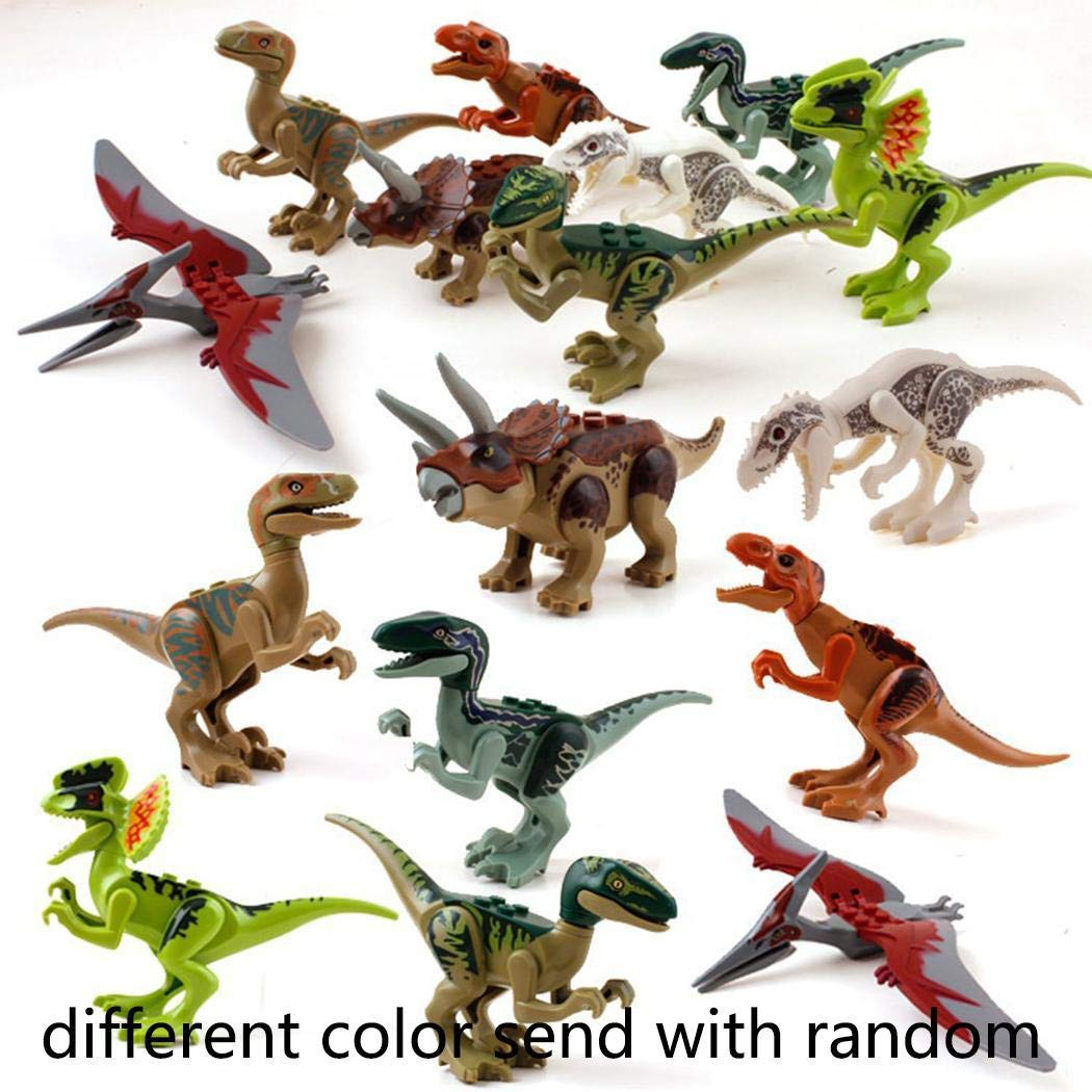 Voiks Kinder Dinosaurier Figuren Spielzeug, 8PCS Dino Bausteine Spielset Kunststoff Klein, Dinosaurier World Tiere Spielzeug Perfekt fü r Kindergeburtstag Party Dekoration, Jungen Mä dchen Kinder