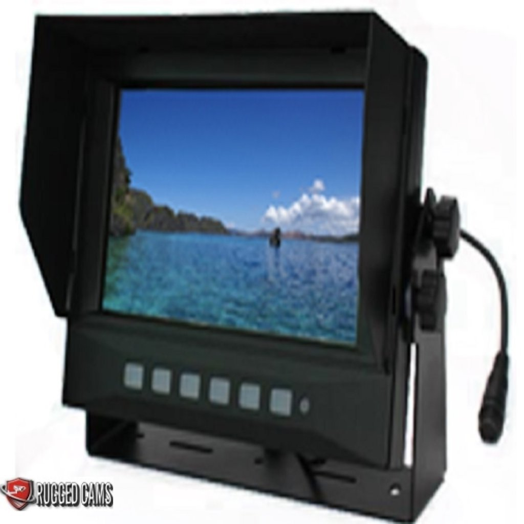 7'' Waterproof Mobile Color Monitor - 2 Channel Model by Rugged Cams