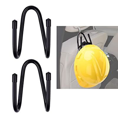 LEVOSHUA Adjustable Over The Seat Hard Hat Holder Rack Hardhat Accessory for Car Vehicle Truck 2 Pack: Home & Kitchen