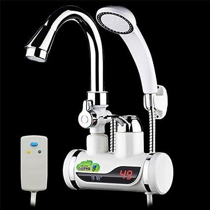 LIU-220V Calentador de agua eléctrico sin tanque instantáneo de seguridad bajo el flujo de