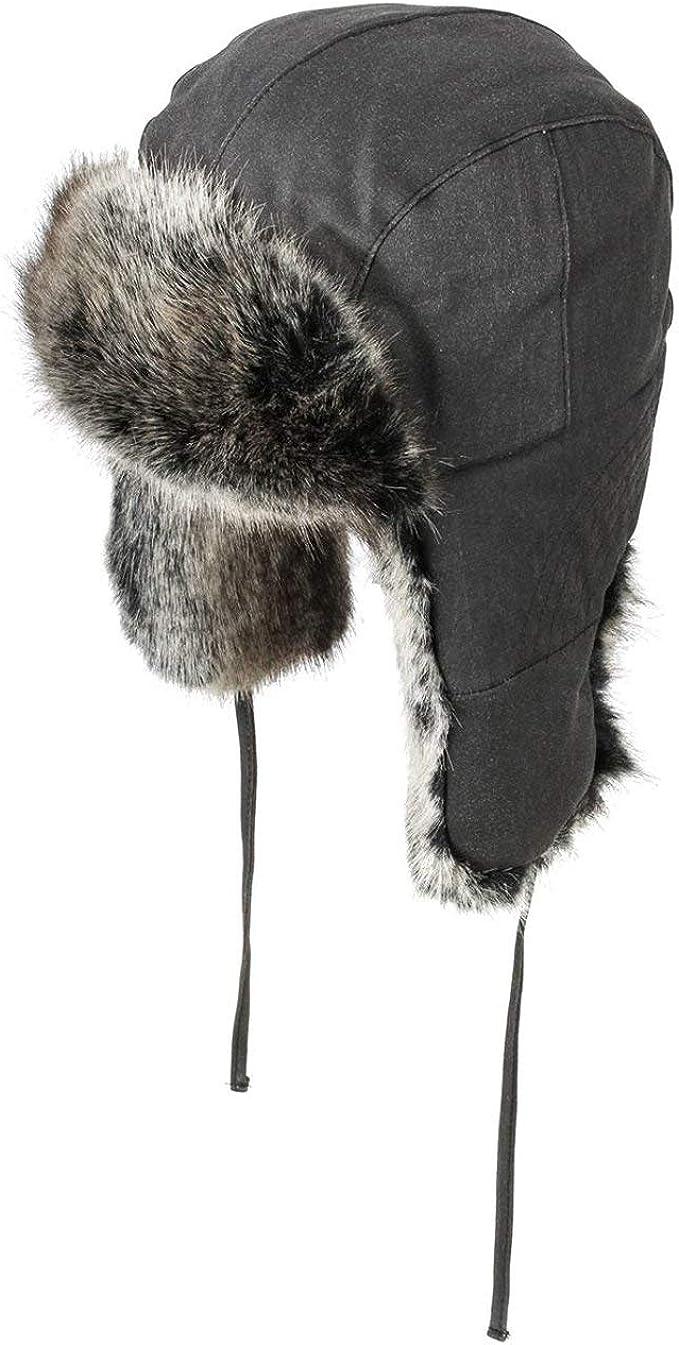 Stetson Standish Old Cotton Fliegerm/ütze Damen//Herren Futter Herbst-Winter Winterlapeer Winterm/ütze Ohrenm/ütze mit Futter