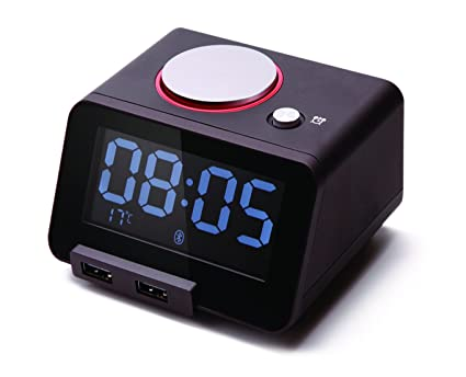 Dual USB Charger Ports for Phone Digital Clock Homtime Alarm Clock for Bedroom