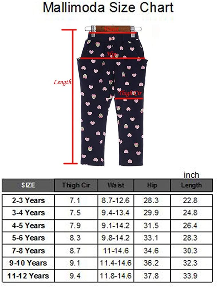 Mallimoda Girls Jogger Sweatpants Casual Pull-On Trousers with Pockets