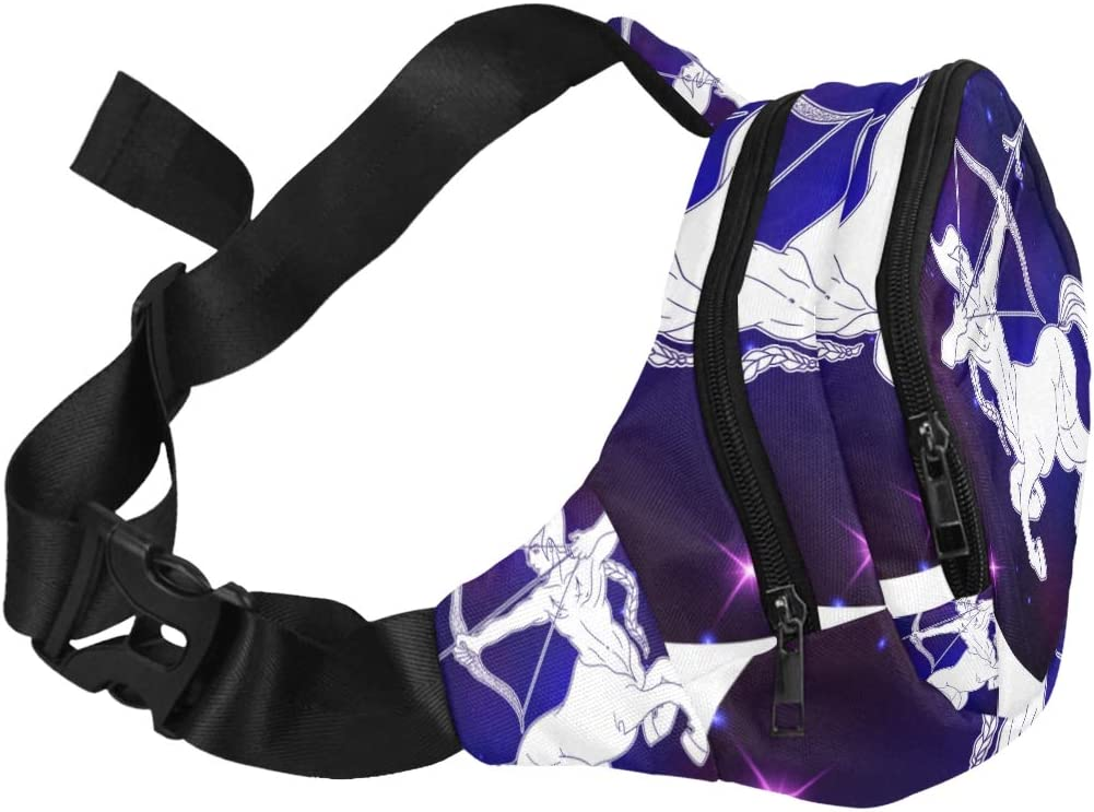 Constellation Zodiac Sign Sagittarius Fenny Packs Waist Bags Adjustable Belt Waterproof Nylon Travel Running Sport Vacation Party For Men Women Boys Girls Kids