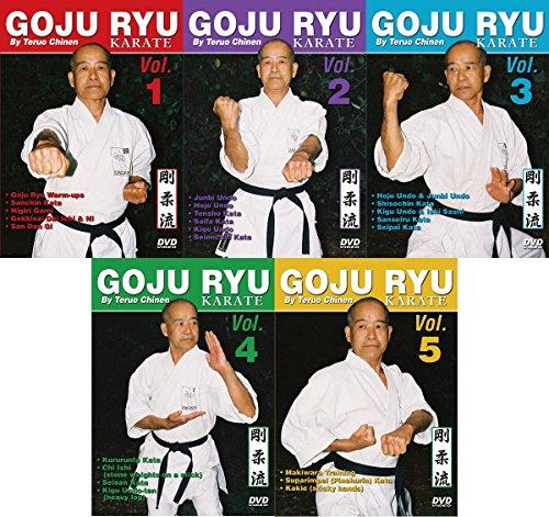 - 5 DVD Set Goju Ryu Karate kata, traditional training ++ Teruo Chinen