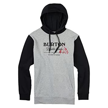 Burton Durable goods Pullover - Sudadera con capucha hombre, Gray Heather, FR: S (talla del fabricante: S): Amazon.es: Deportes y aire libre