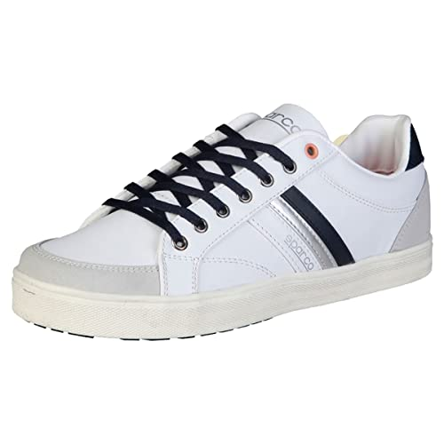 Sparco - Zapatillas de Deporte de Caucho Hombre, blanco (blanco), 45: Amazon.es: Zapatos y complementos