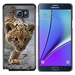 YiPhone /// Prima de resorte delgada de la cubierta del caso de Shell Armor - Bebé Leopardo Cub Madre Cute Puppy - Samsung Galaxy Note 5 5th N9200