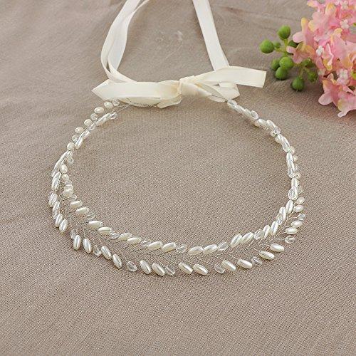 Sh46 Fusciacca Diamanti s Cristalli Cintura Abito Ghigliottina Sposa Off Da Cinghia Da Ulapan Sposa white Perle AqxzSH7qw