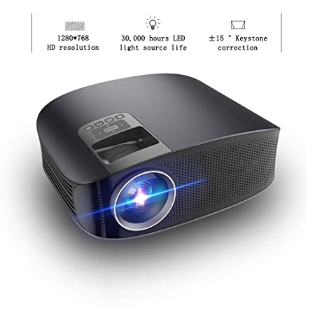 XRLTYY Proyector LED para el Hogar, Proyector de Video ...