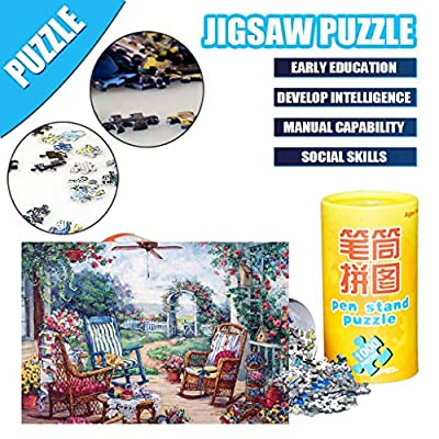 Karooch 1000 Pieces Jigsaw Puzzles for Adults - Jigsaw Puzzles Romantic Landscape Painting Jigsaw Puzzles Parents & Kids Home Interesting Toys Game: Home & Kitchen