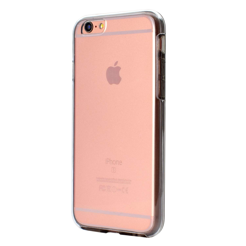 Coque pour iPhone 6S 360 Degrés Protection Complète, Misstars 2 en 1 Transparent TPU + PC Housse Etui Ultra Slim Cover Avant et Arrière Full Body Bumper Anti-Choc Anti-Scratch pour Apple iPhone 6 / 6S (4,7 Pouces), Or Rose