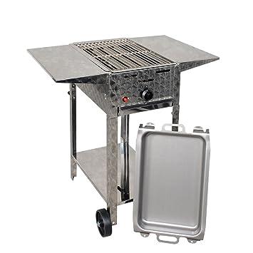 Parrilla de gas de horno 4 KW, movible (combinado con parrilla Sartén, acero