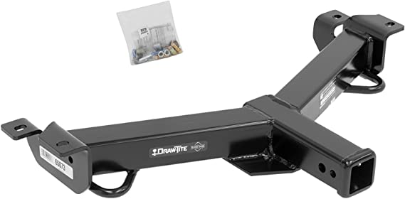 DRAW TITE 65074 Front Mount Hitch with 2 Square Receiver Tube Opening Draw-Tite