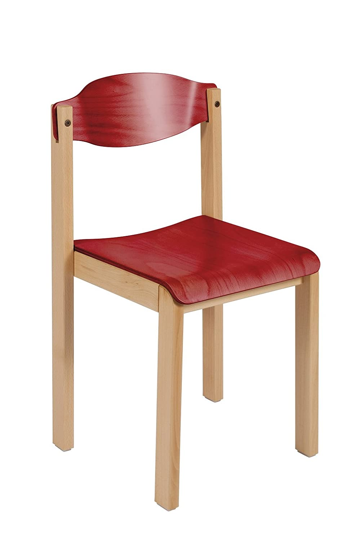 ofreciendo 100% Tmobilier Silla Dreux Color Rojo Madera Madera Madera  gran venta