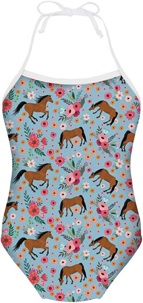 HUGS IDEA Galaxy Star Print Girls One Piece Swimsuit Sleeveless Bathing Suit for 3Y-8Y