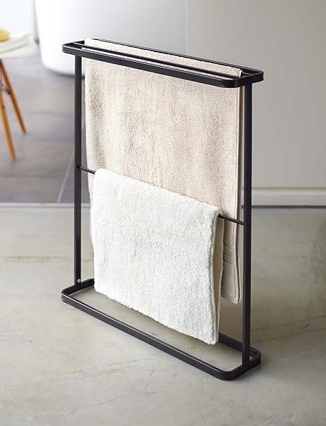 De la torre de negro Metal Color de pie colgador de toallas, 76,2