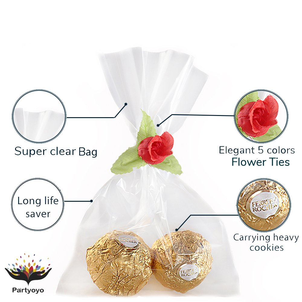 Amazon Plastic Party Favor Bags 60 Pack 4x6 Treat Bags With