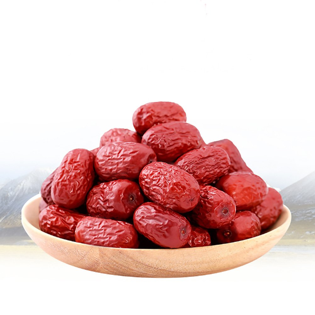2 LB (32oz) Naturally Dried Dates Jujube Special First Grade Chinese XinJiang Grey Dates Sweet Organic For Office Snacks Gift