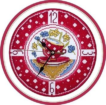 PANNA De punto de cruz Kit de punto de reloj para acogedor cocina ch-1581: Amazon.es: Hogar