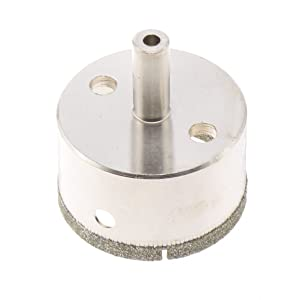 """JINGLING 50mm 2"""" inch Diamond Coated Tool Drill Bit Hole Saw for Glass Tile Ceramic Marble Color Silver"""